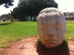 Marble Head Sculpture in Cartagena, Spain - Wayne Kelly